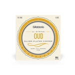 D'Addario 11-String Turkish Oud Set - Silver-Plated Copper Wound Nylon, 22 - 41