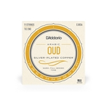 D'Addario 11-String Arabic Oud Set - Silver-Plated Copper Wound Nylon, 26 - 43