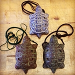 Ocarina - Turtle w/ Bag Necklace and Bag 5 Holes