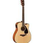 Yamaha Acoustic/Electric Guitar - Solid Spruce Top/Nato B&S Dreadnought