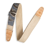 "Guitar Strap - Hemp w/ Natural Cork Ends 2"" Wide"